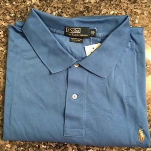 New With Tags!  4X Blue Ralph Lauren Polo